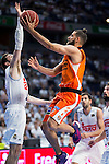 Real Madrid's player Rudy Fernandez and Valencia Basket's Diot during the first match of the Semi Finals of Liga Endesa Playoff at Barclaycard Center in Madrid. June 02. 2016. (ALTERPHOTOS/Borja B.Hojas)