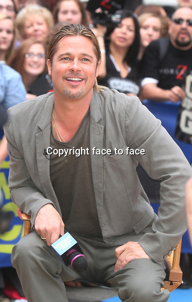 NEW YORK, NY - JUNE 17: Brad Pitt at Good Morning America on June 17, 2013 in New York City. <br /> Credit: MediaPunch/face to face<br /> - USA, Germany, Austria, Switzerland, Australia, UK, Sweden, Estonia, Latvia, Lithuania, Eastern Europe, Taiwan, Singapore, China, Malaysia and Thailand rights only -