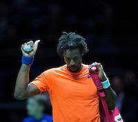 Februari 13, 2015, Netherlands, Rotterdam, Ahoy, ABN AMRO World Tennis Tournament, Gael Monfils (FRA)<br /> Photo: Tennisimages/Henk Koster