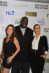 "One Life To Live Melissa Archer and As The World Turns Ewa Da Cruz pose with Kevin Brown and they all star in the film and are at the premiere of ""Excuse Me For Living"" on October 12, 2012 at AMC Loews Village 7, New York City, New York.  (Photo by Sue Coflin/Max Photos)"