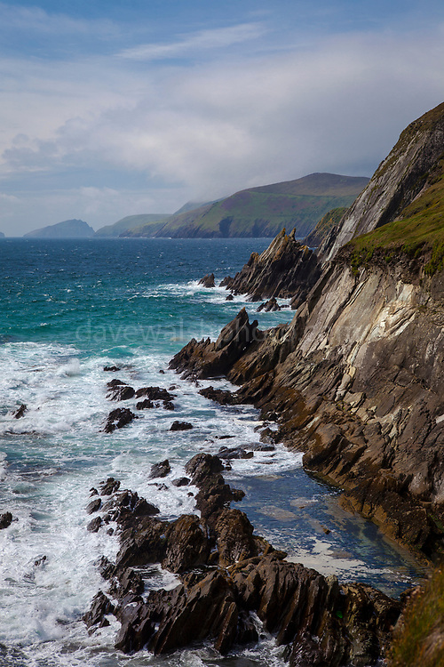 View of the Blasket Islands from Coumeenoole Beach, Slea Head, Dingle Peninsula, Kerry, Ireland