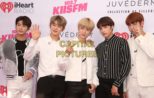 CARSON, CA - June 1: Yeonjun, Soobin, Beomgyu, Taehyun, Huening Kai. Of Tomorrow X Together, at 2019 iHeartRadio Wango Tango Presented By The JUVÉDERM® Collection Of Dermal Fillers at Dignity Health Sports Park in Carson, California on June 1, 2019.   <br /> CAP/MPI/SAD<br /> ©SAD/MPI/Capital Pictures