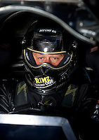 Sept. 5, 2010; Clermont, IN, USA; NHRA funny car driver Jeff Diehl during qualifying for the U.S. Nationals at O'Reilly Raceway Park at Indianapolis. Mandatory Credit: Mark J. Rebilas-