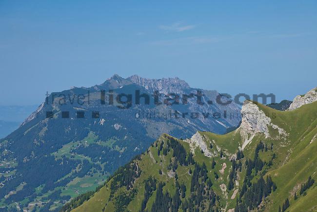 Langspitz, im Hintergrund Drei Schwestern Massiv, Lawenatal, Triesen, Liechtenstein.