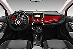 Stock photo of straight dashboard view of 2016 Fiat 500X-City-Look Pop-Star 5 Door Suv Dashboard