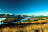 Looking along Loch Garry and Glen Garry, Lochaber, Highland
