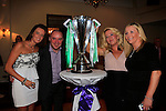 Allison dobbin<br /> Alison cosgrave<br /> Paul McCarthy<br /> Ann mcarthy<br /> <br /> at the Celtic night in the Boyne Valley Hotel.<br /> Picture Fran Caffrey www.golffile.ie
