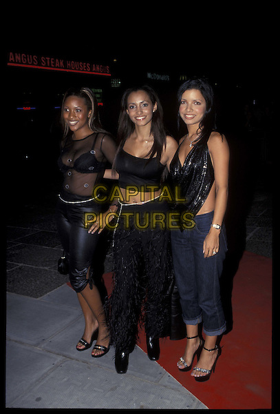 HONEYZ.07 September 1999.ref: 8807.full length, full-length.*RAW SCAN- photo will be adjusted for publication*.www.capitalpictures.com.sales@capitalpictures.com.©Capital Pictures