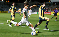 Japan's Sanfrecce Hiroshima Yoshifumi Kashiwa during his AFC Champions League match against Central Coast Mariners in Gosford, near Sydney, March 11, 2014. VIEWPRESS/Daniel Munoz EDITORIAL USE ONLY