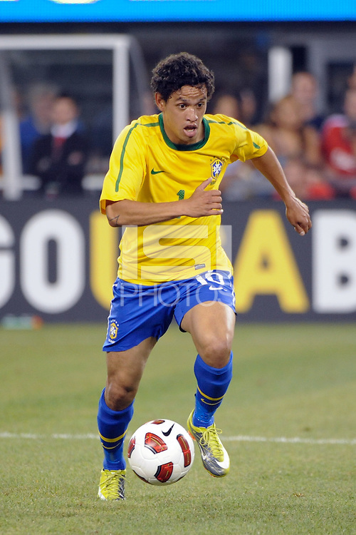 Carlos Eduardo (16) of Brazil. The men's national team of Brazil (BRA) defeated the United States (USA) 2-0 during an international friendly at the New Meadowlands Stadium in East Rutherford, NJ, on August 10, 2010.