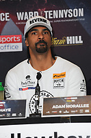David Haye is pictured at the Undercard and Main Event press conference for Saturday May 5th's boxing at the 02 arena in London. May 3, 2018. Credit: Matrix/MediaPunch ***FOR USA ONLY***<br /><br />REF: TST 181389