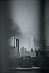 From Williamsburg Bridge after North Tower Collapse, September 11, 2001 ..2001 © Lori GRINKER / CONTACT Press Images
