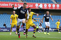 Jake Cooper of Millwall and Kyle Naughton of Swansea City during Millwall vs Swansea City, Sky Bet EFL Championship Football at The Den on 30th June 2020