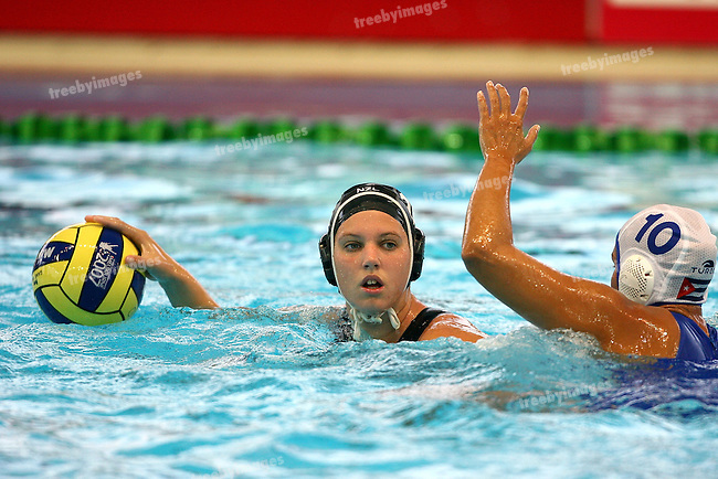 Fina World Swimming Championships Melbourne 2007. Womens Water Polo 19th New Zealand drew with Cuba 7 all.