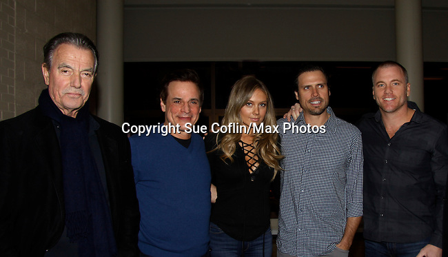 The Young and The Restless - Eric Braeden - Christian LeBlanc, Melissa Ordway - Joshua Morrow - Sean Carrigan - Genoa City Live celebrating over 40 years on February 27 at the Lyric Opera House on stage with questions and answers hosted by Christian and Sean followed with autographs and photos in the theater.  (Photo by Sue Coflin/Max Photos)