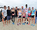 MIAMI BEACH, FLORIDA - APRIL 03: Scott Eastwood, Parker Yung, Claire Holt, Bryan Greenberg, Lisa Roberts, Geoff Stults, Jason Collins and Jenny Fletcher participates in Life Time South Beach Triathlon benefiting the St. Jude Children Hospital at Lummus Park on Sunday April 3, 2016 in Miami Beach, Florida. ( Photo by Johnny Louis / jlnphotography.com )