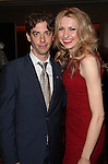 Christian Borle & Nina Arianda.Behind the Scenes at the 2012 Tony Award-Meet The Nominees Press Reception at Millennium Broadway Hotel on May 2, 2012 in New York City. © Walter McBride/WM Photography .