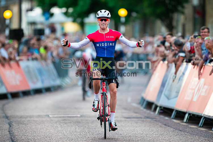 Picture by Alex Whitehead/SWpix.com - 25/07/2018 - British Cycling - HSBC UK National Circuit Series - Colne Grand Prix - Colne, Lancashire, England - Joey Walker of Team Wiggins wins.