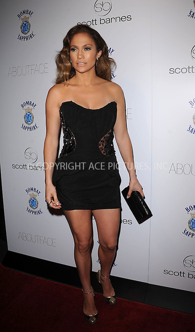 WWW.ACEPIXS.COM . . . . . ....January 20 2010, New York City....Singer Jennifer Lopez arriving at the launch party for Scott Barnes' 'About Face' book at Provocateur at The Hotel Gansevoort on January 20, 2010 in New York City.....Please byline: KRISTIN CALLAHAN - ACEPIXS.COM.. . . . . . ..Ace Pictures, Inc:  ..tel: (212) 243 8787 or (646) 769 0430..e-mail: info@acepixs.com..web: http://www.acepixs.com