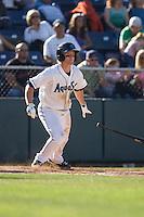 July 11, 2010: Everett AquaSox's Hawkins Gebbers (9) at-bat during a Northwest League game against the Eugene Emeralds at Everett Memorial Stadium in Everett, Washington.