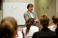 SPOKANE, WA - MARCH 26, 2011: Head Coach Tara VanDerveer during Stanford Women's Basketball vs University of North Carolina, NCAA West Regionals on March 26, 2011.