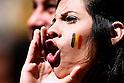 Belgium fans (BEL), JULY 5, 2014 - Football / Soccer : FIFA World Cup Brazil 2014 Quarter-finals match between Argentina 1-0 Belgium at Estadio Nacional in Brasilia, Brazil. (Photo by D.Nakashima/AFLO)