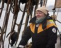 THE BESSIE ELLEN TRAVEL FEATURE.<br /> Hazel McSporan,54, on deck.<br /> Photo:Clare Kendall