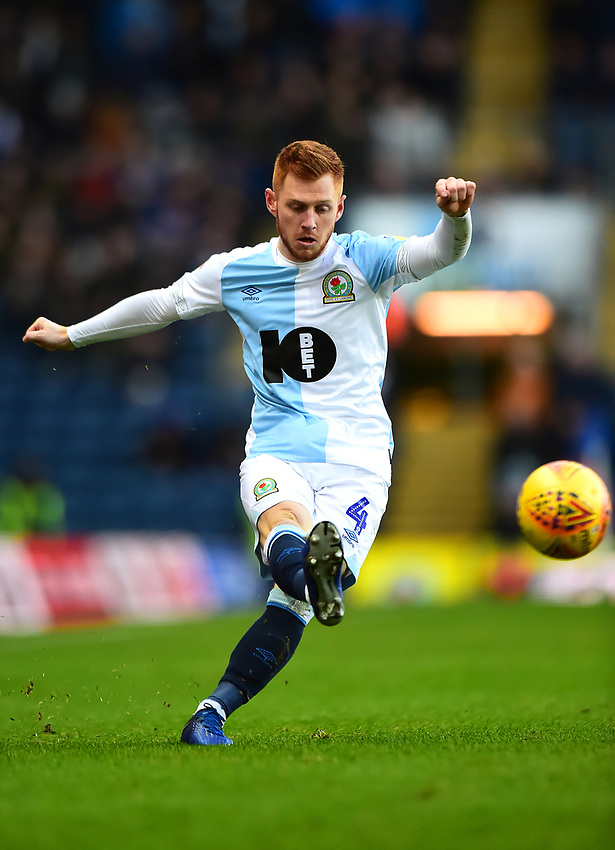 Blackburn Rovers' Harrison Reed in action<br /> <br /> Photographer Richard Martin-Roberts/CameraSport<br /> <br /> The EFL Sky Bet Championship - Blackburn Rovers v West Bromwich Albion - Tuesday 1st January 2019 - Ewood Park - Blackburn<br /> <br /> World Copyright © 2019 CameraSport. All rights reserved. 43 Linden Ave. Countesthorpe. Leicester. England. LE8 5PG - Tel: +44 (0) 116 277 4147 - admin@camerasport.com - www.camerasport.com