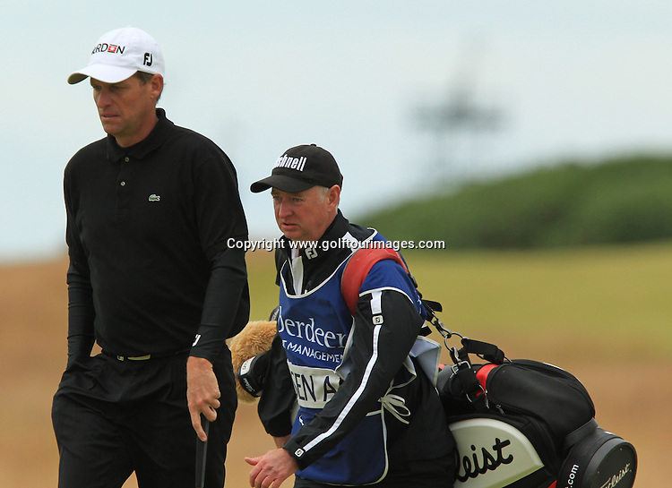 Anders Hansen (DEN) during the final round of the 2012 Aberdeen Asset Management Scottish Open being played over the links at Castle Stuart, Inverness, Scotland from 12th to 15th July 2012:  Stuart Adams www.golftourimages.com:15th July 2012