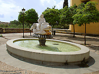 One of the fountains in Historical Center of Cordoba, Spain.