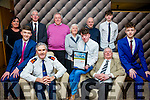 At the Lee Strand Kerry Garda Youth Achievement Awards 2016 in Ballyroe Heights on Friday were, from left. Jack Galvin, Superintendent Flor Murphy, Diarmuid Mullane, Kilcummin, Merit Award Winner, Bill Mullane, Tom Geaney Back l- r  Carmel Mullane, Sean Coffey, Pat O'Leary, Ann Howe, John O'Donoghue, Robert Lee