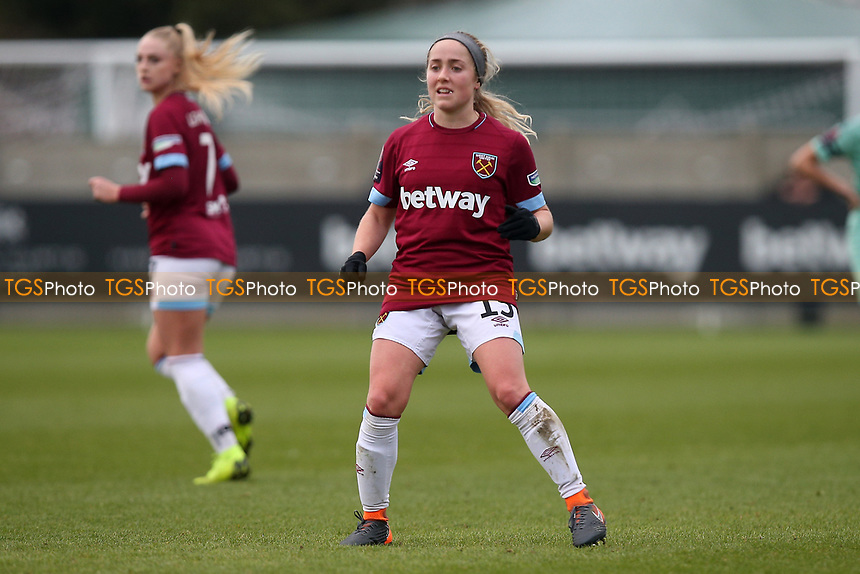 Brianna Visalli of West Ham during West Ham United Women vs Arsenal Women, FA Women's Super League Football at Rush Green Stadium on 6th January 2019