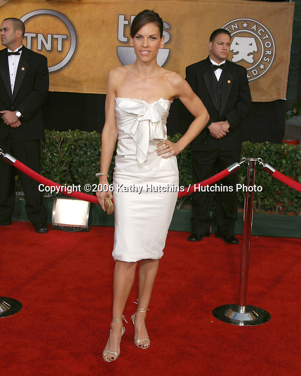 Hilary Swank.12th Annual Screen Actors Guild  Awards.Shrine Auditorium.Los Angeles, CA.January 29, 2006.©2006 Kathy Hutchins / Hutchins Photo....