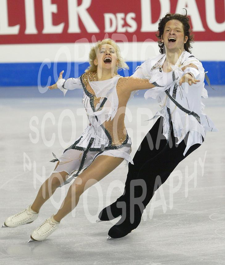 Oksana Domnina And Maxim Shablin Russia 2006 World Figure Skating Championships Calgary Photo Scott Grant