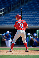 Philadelphia Phillies Nate Fassnacht (11) at bat during an Instructional League game against the Toronto Blue Jays on September 17, 2019 at Spectrum Field in Clearwater, Florida.  (Mike Janes/Four Seam Images)