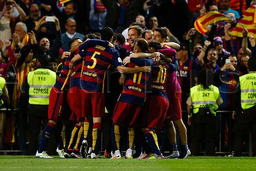 22.05.2016. Vicente Calderón, Madrid, Spain. Copa del Rey final between FC Barcelona and Sevilla FC at the Vincente Calderon stadium in Madrid, Spain, May 22, 2016 .