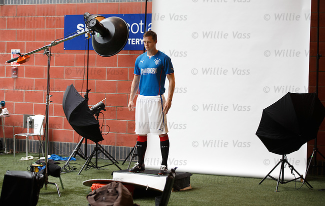 Jon Daly being photographed for Puma