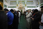 Syrian Muslim worshipers perform the Eid al-Fitr prayer, in Azaz city, north of Aleppo, Syria, on May 24, 2020. Eid al-Fitr marks the end of Muslim's holy fasting month of Ramadan when faithfuls abstain from eating, drinking, smoking and sexual activities from dawn to dusk. Photo by Nayef ALaboud