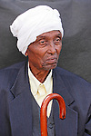 Israel, Jerusalem. An Ethiopian Jewish man at the annual Sigd festival, November 2004<br />