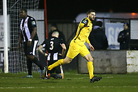 Bradley Warner of Hornchurch scores the second goal for his team and celebrates during Heybridge Swifts vs AFC Hornchurch, Bostik League Division 1 North Football at Scraley Road on 9th January 2018