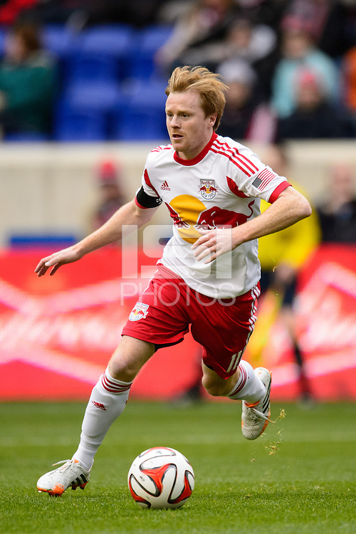 Dax McCarty (11) of the New York Red Bulls. The New York Red Bulls and Chivas USA played to a 1-1 tie during a Major League Soccer (MLS) match at Red Bull Arena in Harrison, NJ, on March 30, 2014.