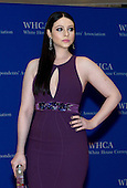 Michelle Trachtenberg arrives for the 2015 White House Correspondents Association Annual Dinner at the Washington Hilton Hotel on Saturday, April 25, 2015.<br /> Credit: Ron Sachs / CNP