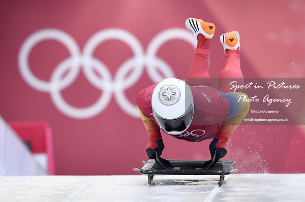 Dorin Velicu (ROU). Skeleton training. Alpensia sliding centrePyeongchang2018 winter Olympics. Alpensia. Republic of Korea. 13/02/2018. ~ MANDATORY CREDIT Garry Bowden/SIPPA - NO UNAUTHORISED USE - +44 7837 394578