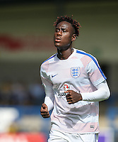Trevoh Chalobah (Chelsea) of England U19 warms up during the International match between England U19 and Netherlands U19 at New Bucks Head, Telford, England on 1 September 2016. Photo by Andy Rowland.