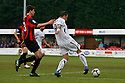 Danny Kedwell of Wimbledon scores their fourth goal during the Blue Square Bet Premier match between Histon and AFC Wimbledon at the Glass World Stadium, Histon on 16th April, 2011.© Kevin Coleman 2011.