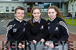Class of 17 at Killarney Community College Michael Aherne, Aisling Teahan, Tara Fitzgerald after sitting their Leaving Cert exam on Friday