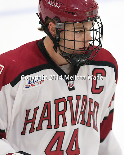 Max Everson (Harvard - 44) - The Harvard University Crimson tied the visiting Dartmouth College Big Green 3-3 in both team's first game of the season on Saturday, November 1, 2014, at Bright-Landry Hockey Center in Cambridge, Massachusetts.