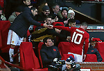 Wayne Rooney of Manchester United is congratulated by his team mates after being substituted during the UEFA Europa League match at Old Trafford, Manchester. Picture date: November 24th 2016. Pic Matt McNulty/Sportimage