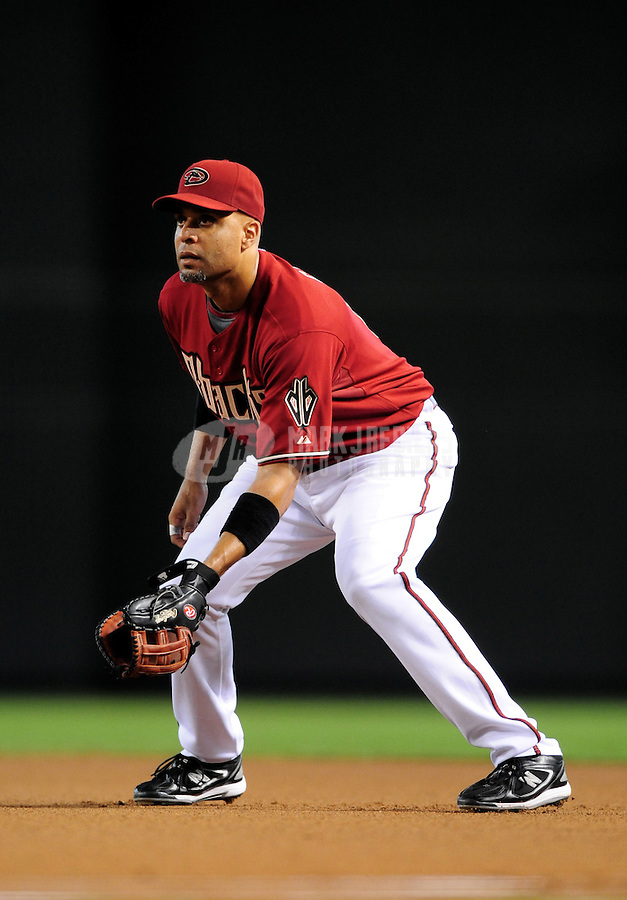 Jul 20, 2008; Phoenix, AZ, USA; Arizona Diamondbacks first baseman Tony Clark against the Los Angeles Dodgers at Chase Field. Mandatory Credit: Mark J. Rebilas-