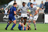 James Phillips of Bath Rugby in possession. Pre-season friendly match, between Leinster Rugby and Bath Rugby on August 25, 2017 at Donnybrook Stadium in Dublin, Republic of Ireland. Photo by: Patrick Khachfe / Onside Images